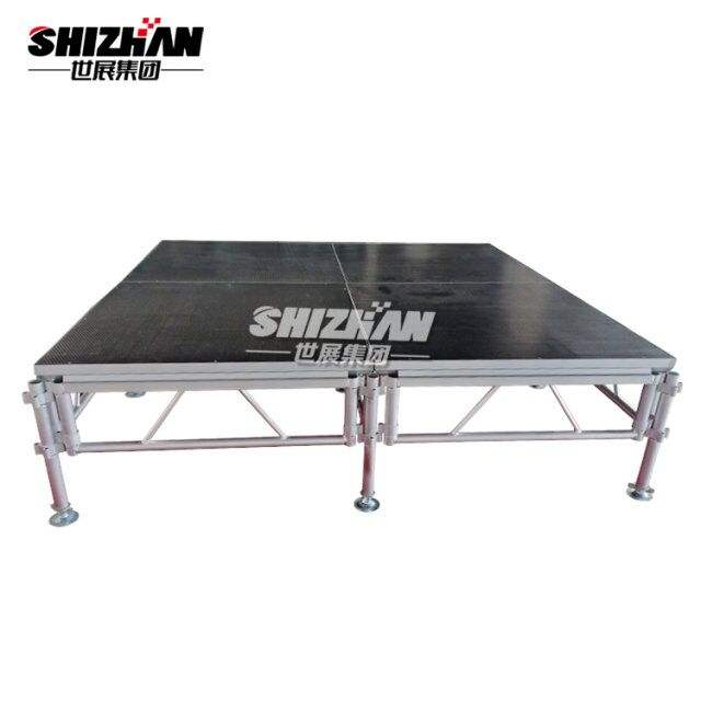 Shizhan Cheap Price Portable Folding Stage Platform with Step Stairs For Exhibition