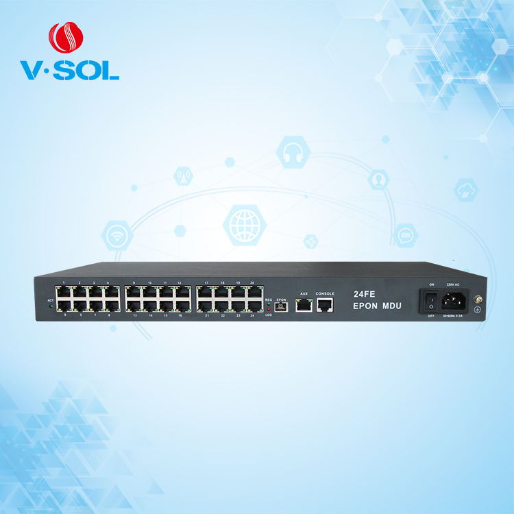 V-Solution EPON MDU 24 FE互換BDCOM OLT