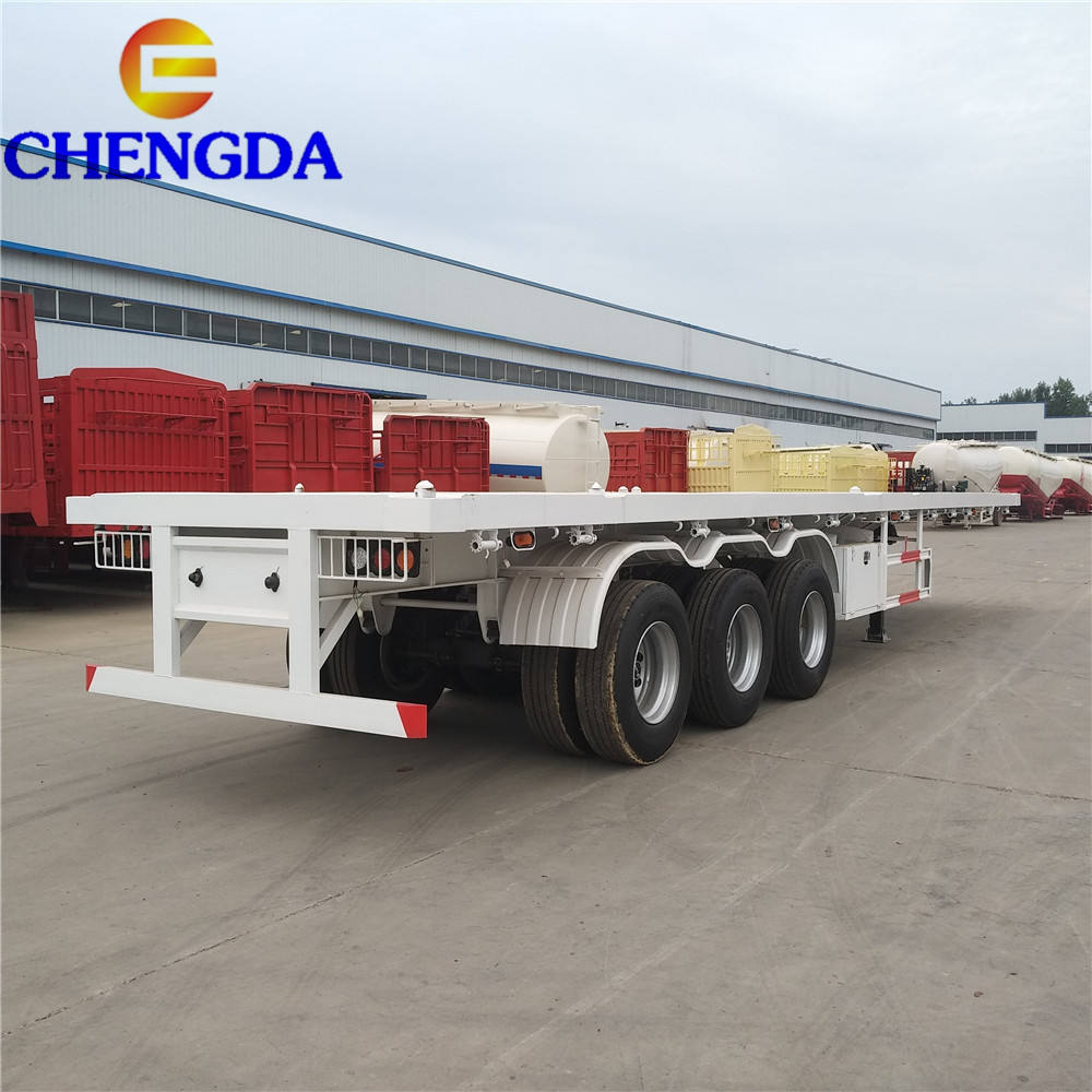 3 Trục 40ft Container Phẳng Xe Tải Bán Trailer