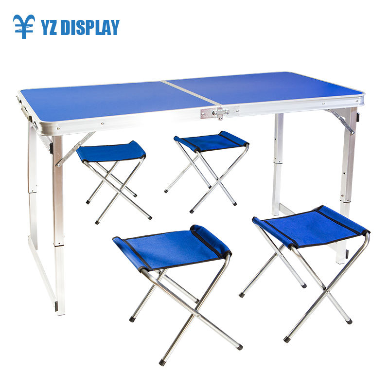 Aluminum Material Outdoor Portable Foldable Table and Chair For BBQ