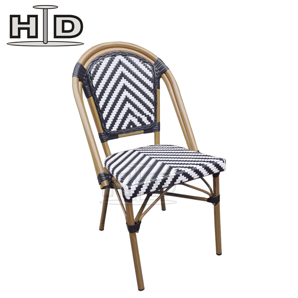 Outdoor Chairs Stacking Stacking Sun Rattan Wicker Restaurant Garden Ratan Aluminium Dining Outdoor Furniture Chair