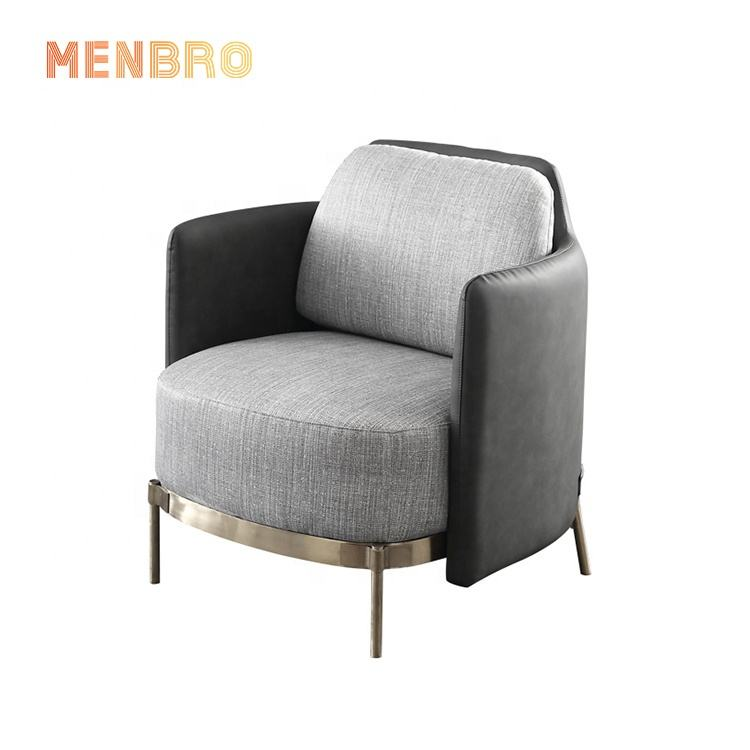 Europese Stof Meubels Gold Metal Benen <span class=keywords><strong>Accent</strong></span> Fauteuil, Enkele Sofa Stoel Voor Woonkamer
