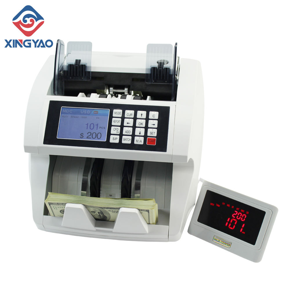 Professional USD/EUR/GBP Serial Number Reading&Printing Currency Counting Machine Fake Money sorting Machine Bill Counter