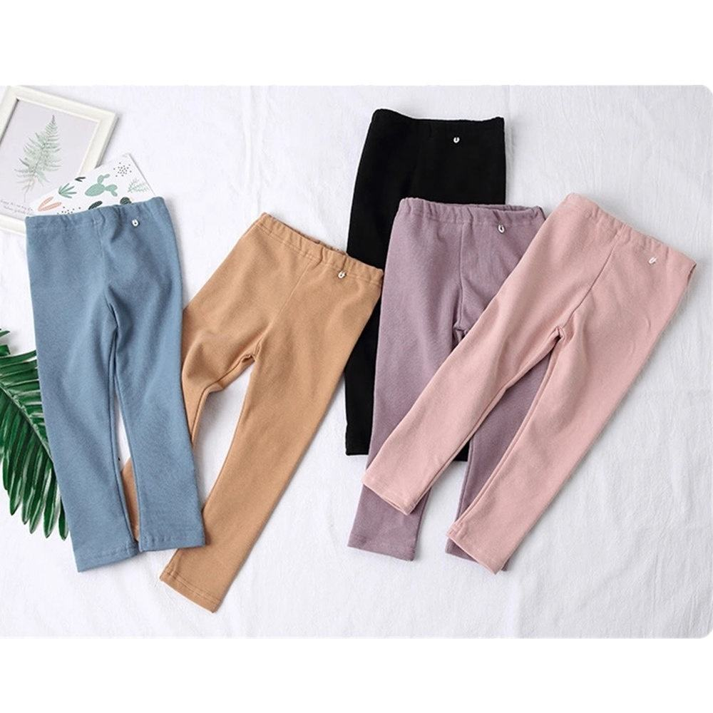 Factory manufacturer ribbed cotton leggings baby girl long pants