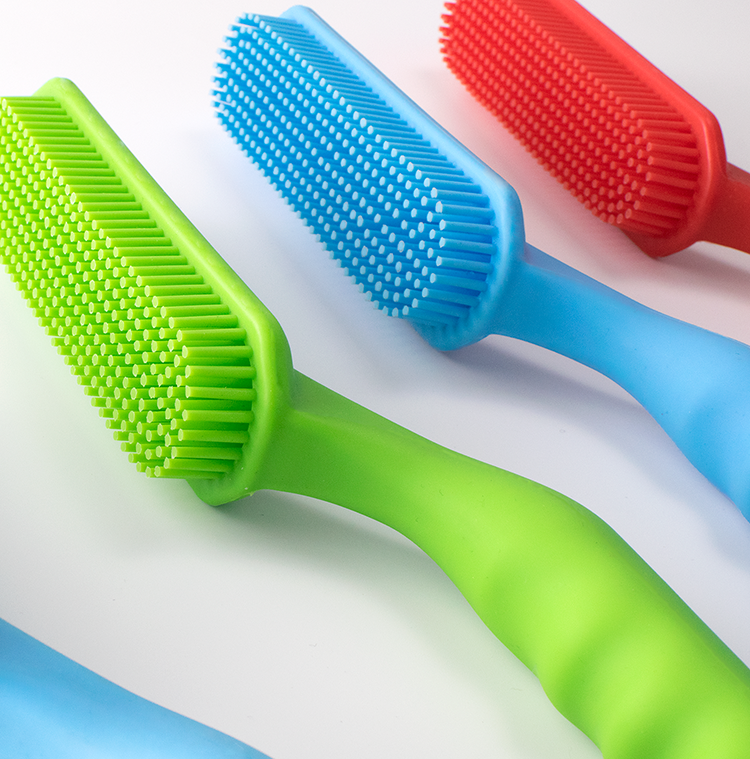 Sample Available Non-Stick Multi-Purpose Comfortable Rubber Silicone Cleaning Tool Brush