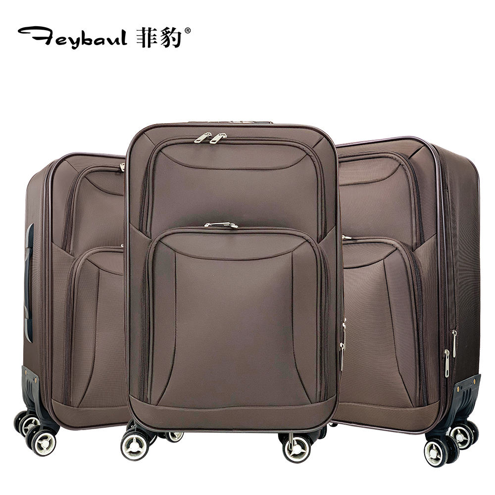 Best seller cloth luggage,super quality 4wheel trolley suitcase