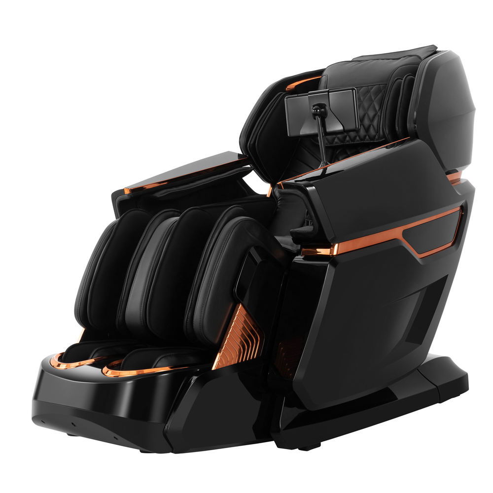 Deluxe 4D Zero Gravity L Track Massage Chair For Home Relax