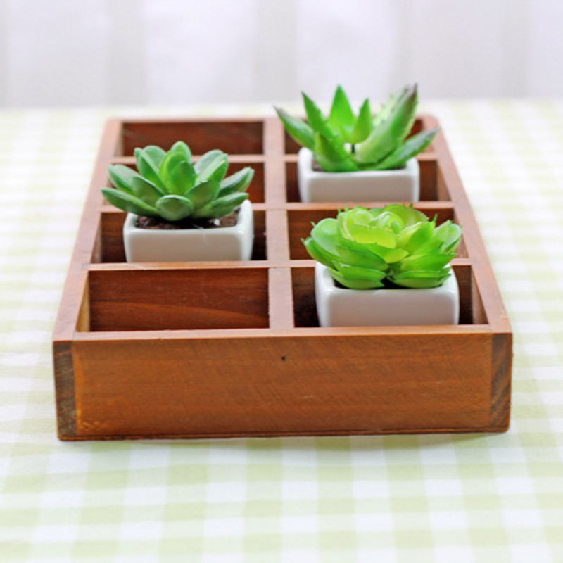 Factory direct sale 8 grid solid wood tray good quality solid wooden pallet