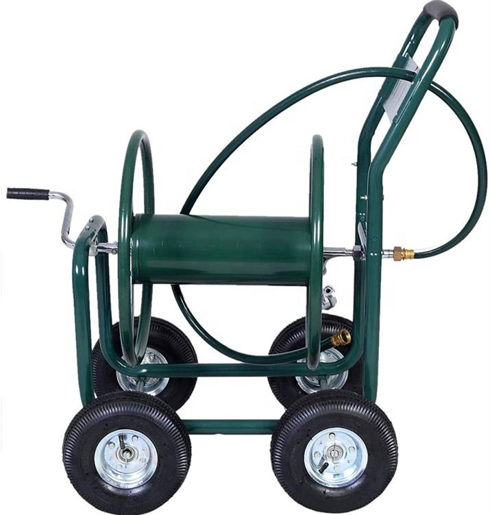 Garden Water Outdoor Heavy Duty Duty Metal Hose Reel Yard Water Planting New Garden Cart
