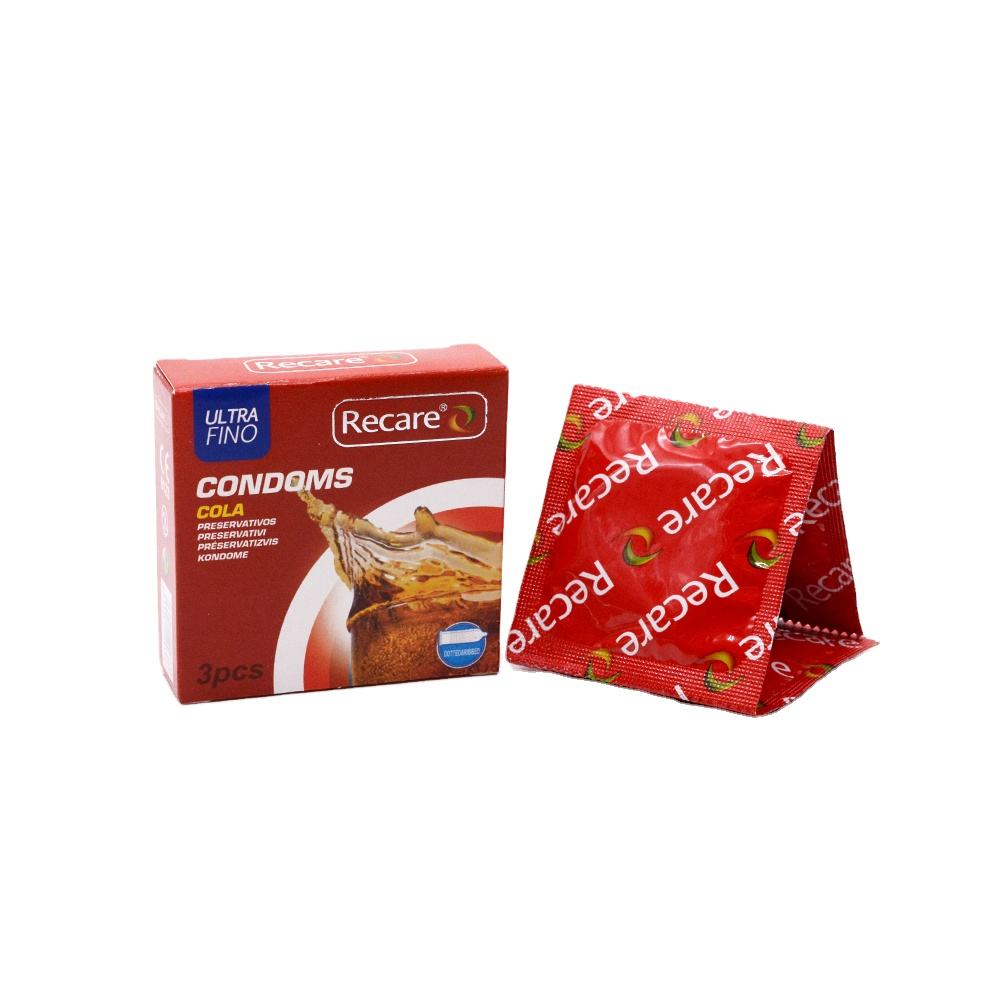 Recare Spike Condom Cola Flavor Dotted And Ribbed Condom