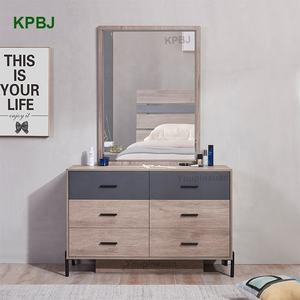 Factory Price Home 5 Pieces Brown Queen King Size Cheap Bedroom Set Furniture