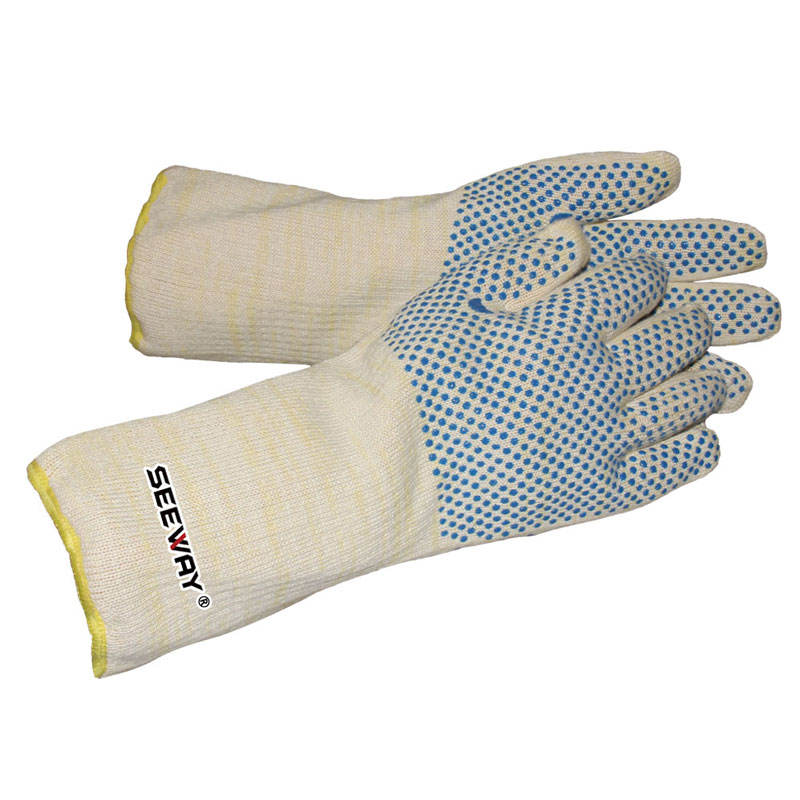 Waterproof [ Rubber Gloves ] Waterproof Rubber Heat Liquid Resistance Gloves Long Cuff