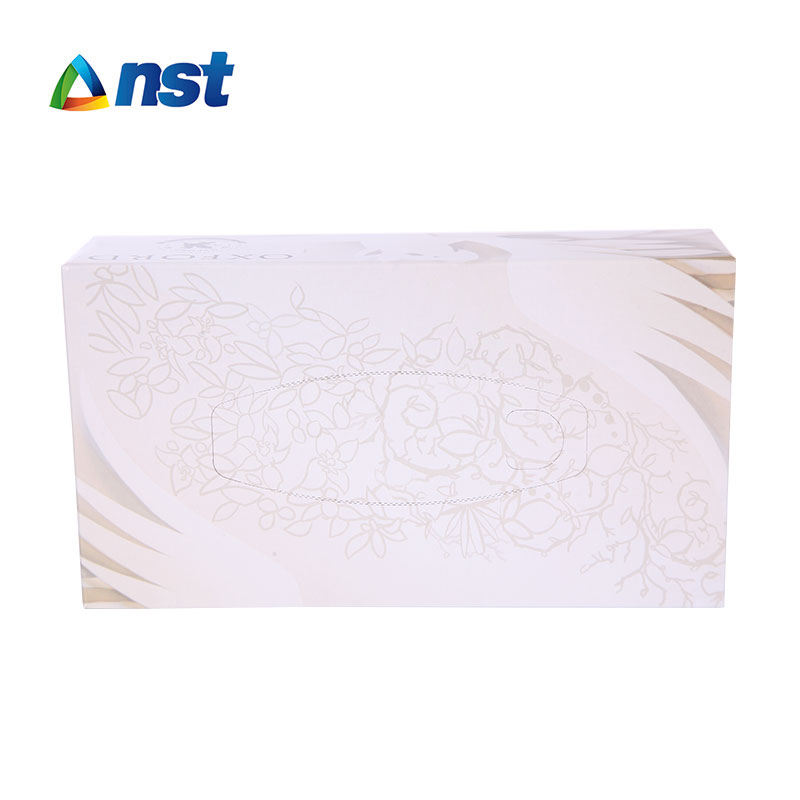 OEM best quality printed soft facial tissues 2 ply box facial tissue paper
