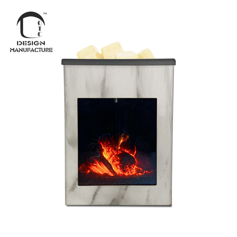 Company hot sale gift plastic marble grain miniature fireplace tarts warmer