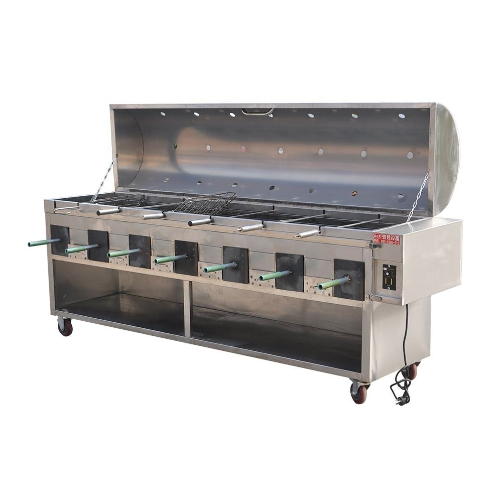 Outdoor bbq grill Commercial mobile large scale charcoal smoke-free environment protection barbecue machine barbecue ttruck