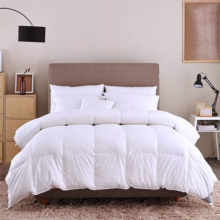 Four Seasons 100% Cotton 400 Thread Count Down Proof Goose Down Duvet