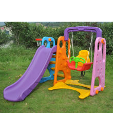 YL-HT001New Outdoor Playground Equipment Plastic Slide And Swing Play Set Toys For Kids