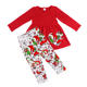 Girls Christmas Outfits 2019 Winter Toddler Girls Clothing Baby Pants Kids Christmas Outfits