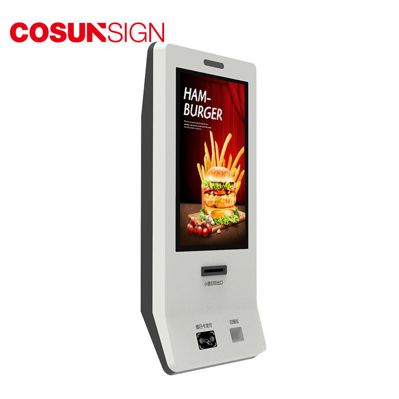 Touchscreen [ Payment Terminal ] Kiosk Self Payment Information Display Payment Terminal Touchscreen Self Order Kiosk In Restaurant
