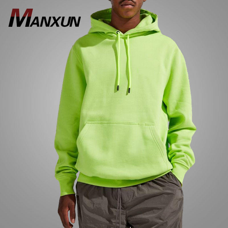 Wholesale Custom Good Quality Men Bright Color Pullover Hoodies Sweatshirt Fitted Loose Cotton Sports hoody