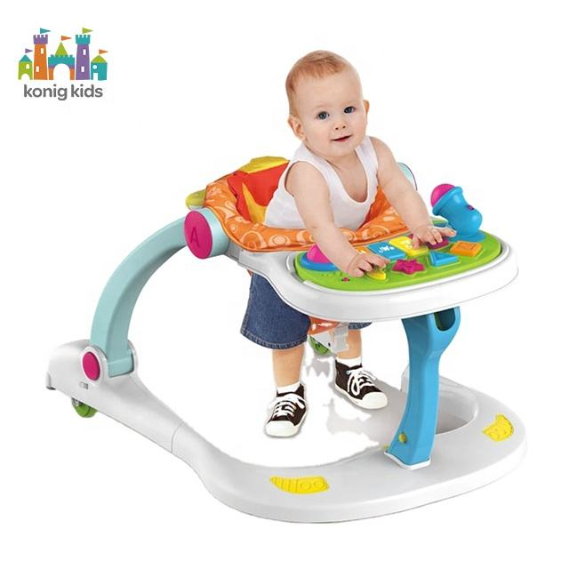 Konig Kids Factory Wholesale Rolling Wheels Toys Musical Toddler Activity kids Baby Walkers