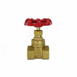 Brass Forged non-rising stem gate valve with hand wheel