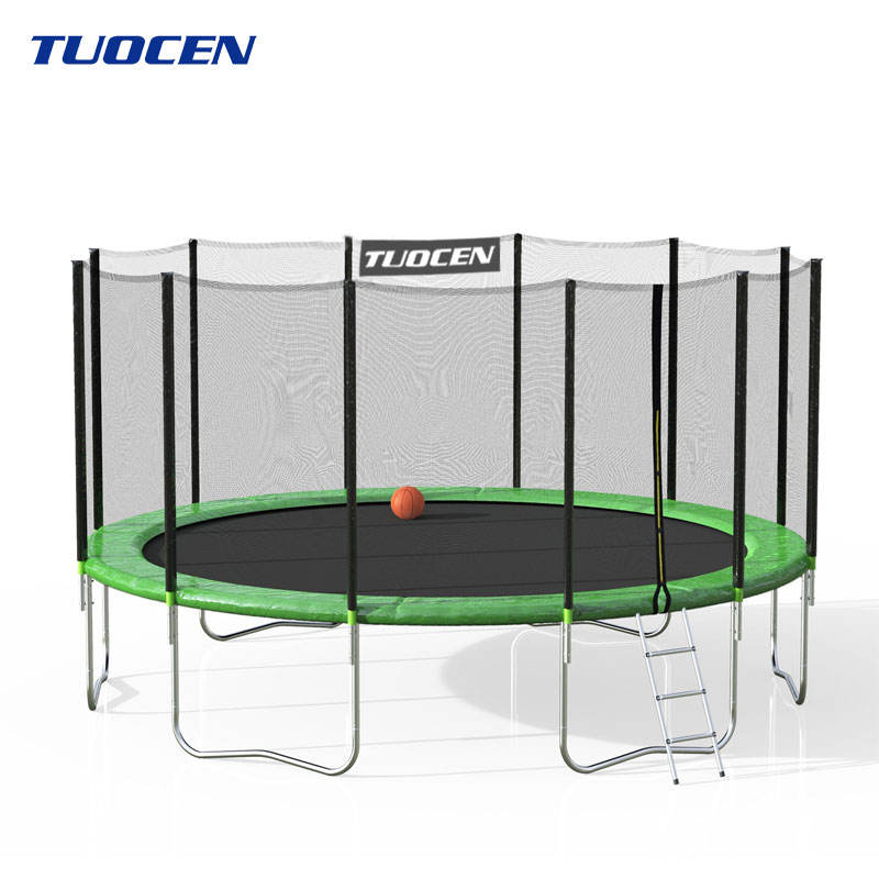 Professional Colorful Water Trampoline, Playground Trampoline Tent With Safety Net