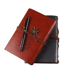 Creative notebook custom vintage travel loose-leaf pirate notebook kraft hand-ledger manufacturer wholesale design your own note