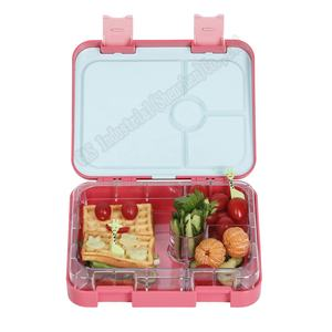 Highest quality ABS and Tritan plastics 4-compartment design Bento Lunch Box for kids/adults
