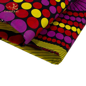 100 Cotton african wax prints fabric 6 yards  New African Style 100 Polyester hitarget wax prints