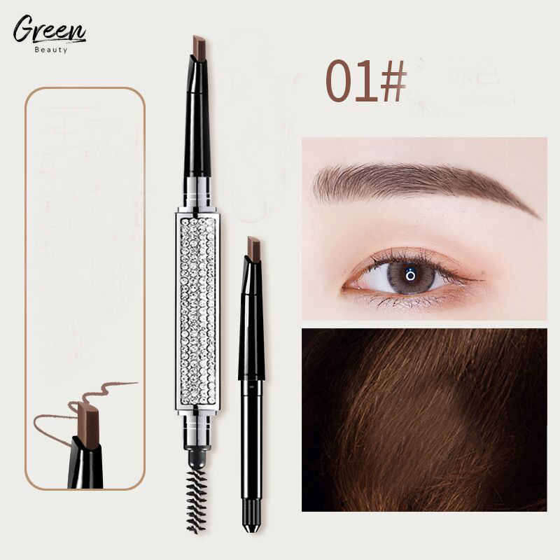 High Quality Diamond Shape Oil Proof Easy To Handle Marble Brow Pencil Whole Sale Dip Brow Eyebrow Pencil Eyebrow Powder