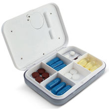 J&R Multi Functions Electronic Pill Storage Case,Five Alarms Timer Reminder Medication Tablet Box