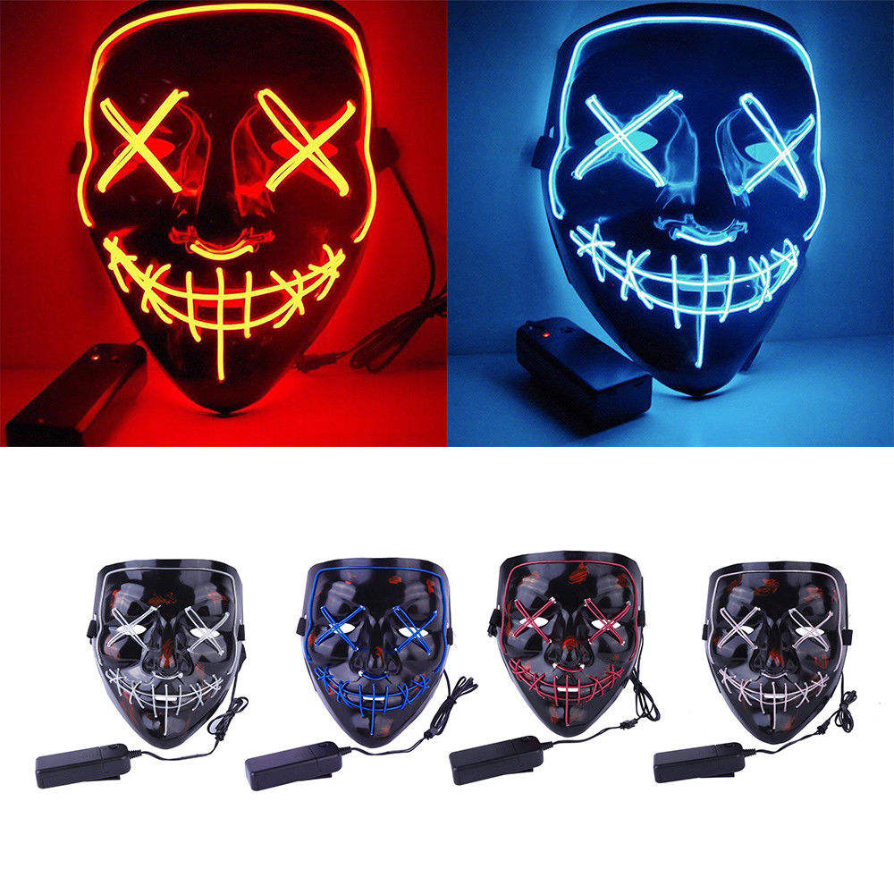 Hot Sales Light Up LED Mask Cosplay Costume Halloween Party Xmas Mask