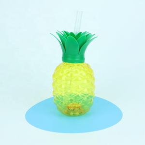 Party Cup Plastic Party Cups 500cc Cheap Wholesale Custom Fashion Party Light Plastic Pineapple Juice Yard Drink Cup With Straw