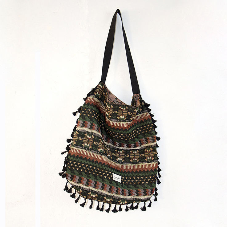 Customize Brand Single Shoulder Canvas Ethnic Bags 2020 Indian Bag For Women Hobo Bag