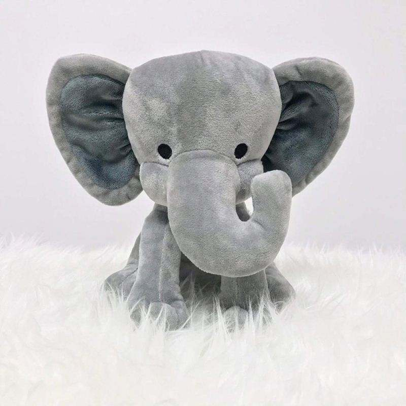 Wholesale 9 Inches Great for Nursery Room Bed Decorative Grey Stuffed Elephant Animal Plush Toy