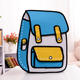 2020 new design 2d backpack kids school bags fashion cute 3d cartoon bag