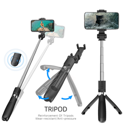 Bluetooth selfie stick tripod 360d  rotating mini extendable selfie stick with Bluetooth remote control, suitable for iPhone 11