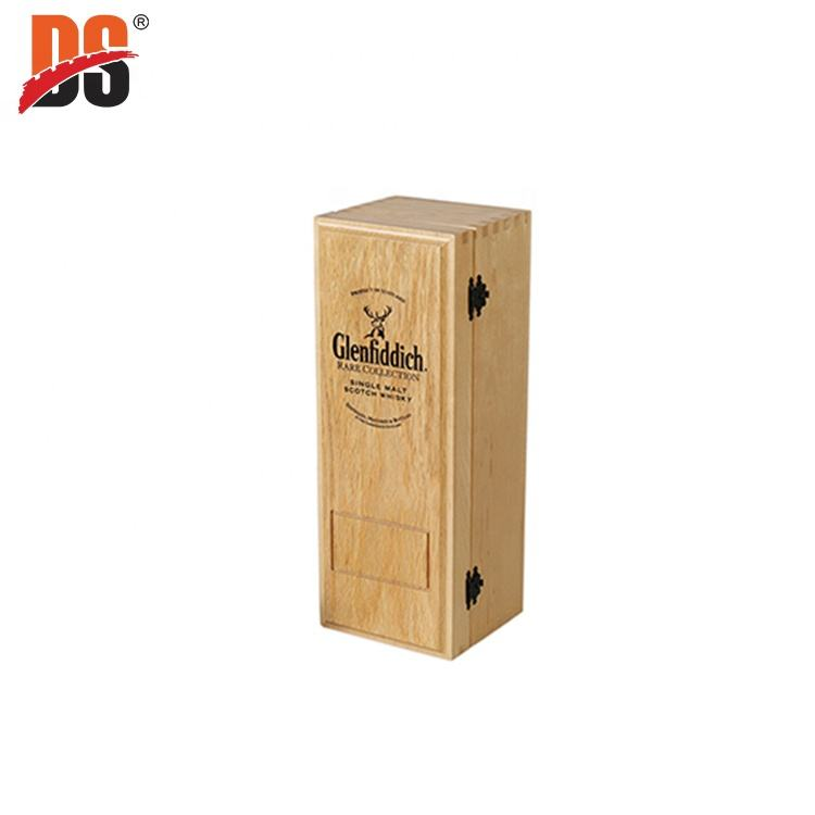 China Wholesale Custom Laser Engraved Logo Oak Single Luxury Vintage Bulk Gift Wooden Wine Box