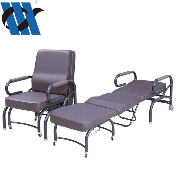 Hospital Chair BDEC107 Luxurious Accompanier's Medical Chair Cum Bed Foldable Accompany Reclining Attendant Hospital Chairs