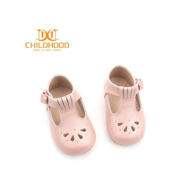 Factory Wholesale Baby T Bar Shoes Leather Fashion Baby Mary Jane Dress Shoes Girls