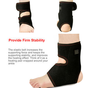 SUNMAS ankle foot heating therapy electric warm ankle brace adjustable