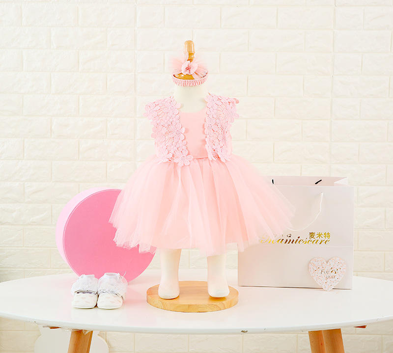 High quality newborn princess dress baby clothes sets full moon girl frock gift box with hundred days gift