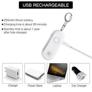 130 Decibel Siren Personal Keychain Alarm Emergency Self Defense Bracelet Products for Woman Security