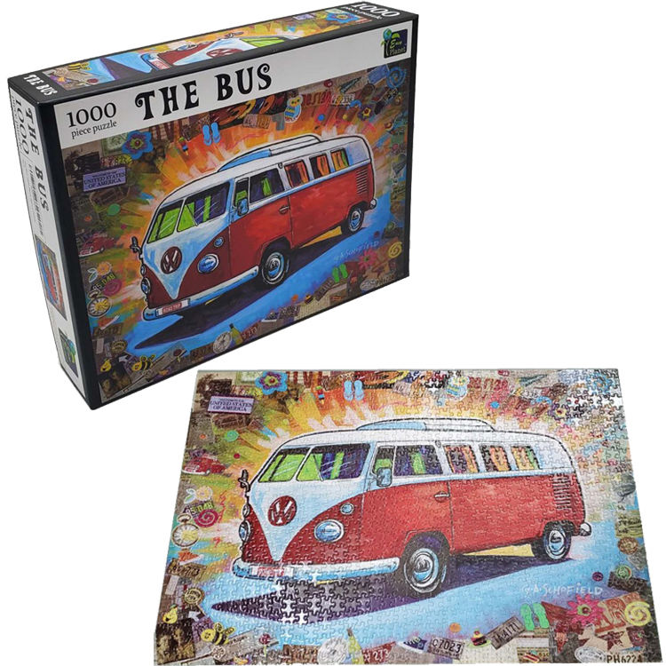 high quality custom puzzle factory price 1000 piece cardboard large jigsaw puzzle for adults