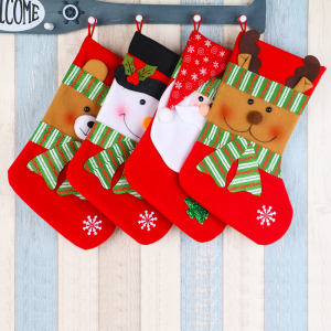 High Quality Red Green Mini Gifts Santa Claus Decorations Pet Christmas Stocking Small Christmas Stocking