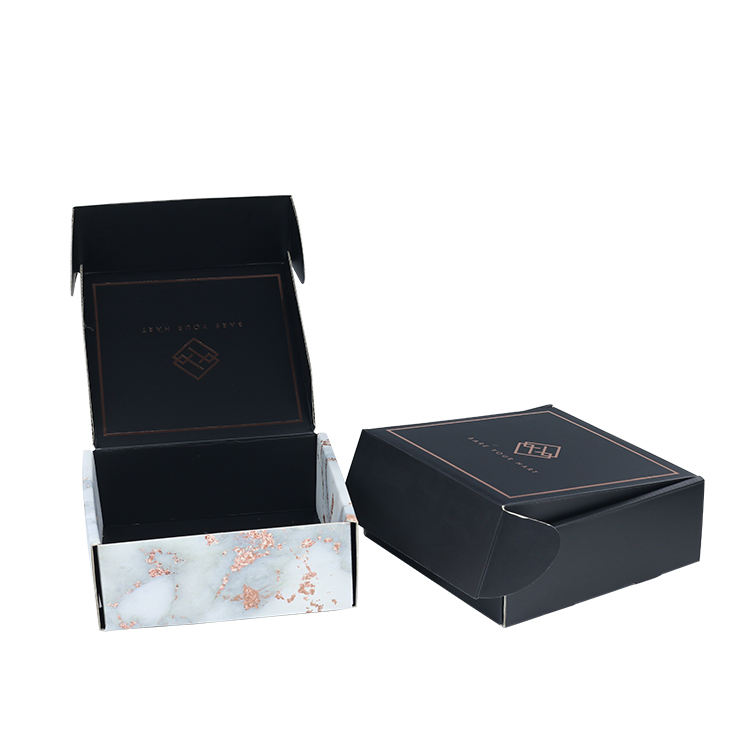 Flat packed online shipping courier corrugated gift box