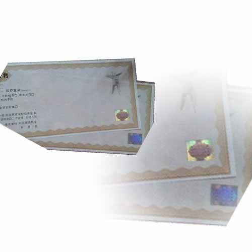 High-tech custom design security paper certificate printing for gemstone quality recognize