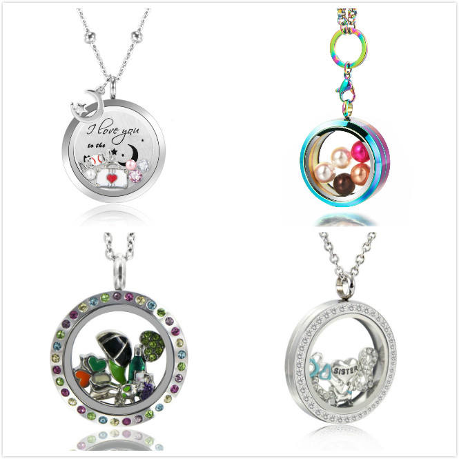 Most popular stainless steel memory floating frame living glass locket for birthstone