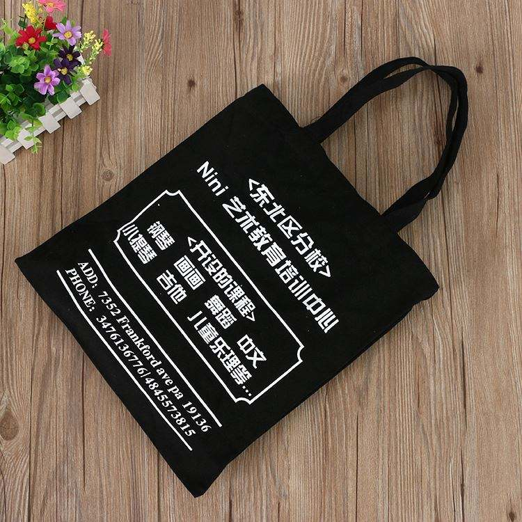 Best Selling long handle Cotton Canvas tote Bags Women Handbags